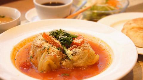 横浜本牧のカフェ duocafe スペシャルランチ「イタリアンロールキャベツ」