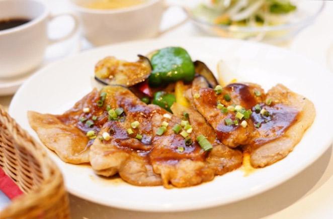 ポークの味噌焼き 彩り野菜