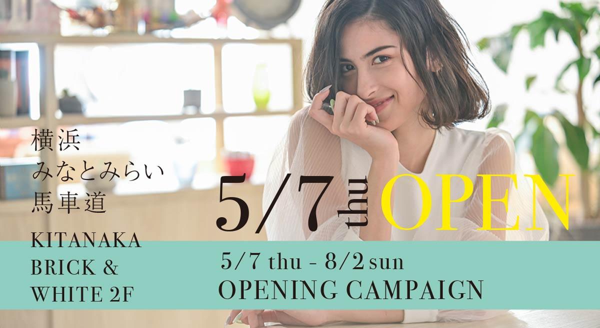 M.SLASH みなとみらい馬車道店 オープニングキャンペーン2020/5/7-8/2